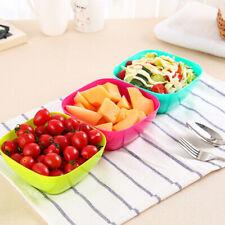 Plastic Fruit Salad Bowl Food Grade Plastic Square Melon Plate Snacks Candy Dish