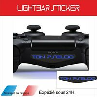 Pseudo - nickname - Lightbar PS4 manette - autocollants Stickers