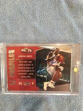 2005-06 FLEER NBA HOOPS LJ PROFILES LEBRON JAMES HAND SIGNED AUTO ON CARD NO COA