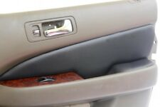 Insert Door Panel Leather Synthetic Cover for Acura RL 98-03 Black