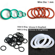1 mm FKM NBR Silicone O-Ring Seal Washer Nitrile Rubber O Ring OD 3 mm - 80 mm