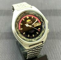 RARE Vintage Watch Orient SK Sea King World Time Crystal Black Face Watch C.469