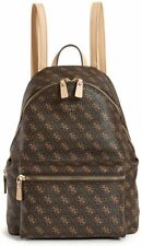 NEW GUESS Women's Leeza Brown Logo Print Large Backpack Bag Handbag Purse