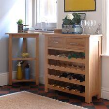 Newark Oak Wine Rack, chêne clair, entièrement monté