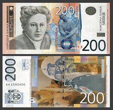 Serbia 200 DINARA N.Petrovic 2005 P 42 UNC SERIES AA