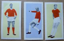 MANCHESTER UNITED BOBBY CHARLTON FOOTBALL CARDS 1963 FLEETWAY