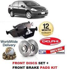 für Nissan Tiida 1.5DT dCi + 1.6 2010- > Bremsscheiben Satz + BREMSBELÄGE SATZ