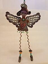 COLLECTIBLE TICKLE YOUR SOUL KIMBERLY WILLCOX CROCHETED WINGS ANGEL ORNAMENT