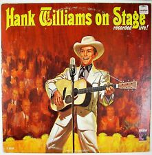 HANK WILLIAMS Hank Williams On Stage LP 1962 COUNTRY VG++ NM-