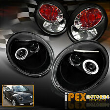 VOLKSWAGEN 4PCS Combo 98-05 VW Beetle Halo Projector LED Headlight + Tail Light