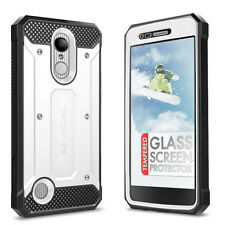 LG Aristo Case and Glass Screen Protector - Evocel Full Body Case & Holster