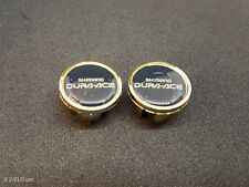 Vintage style Shimano Dura Ace gold Handlebar End Plugs