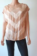 Haute Hippie Vintage Pink Women's Sleeveless Striped Blouse top