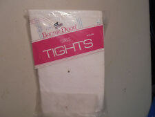 VINTAGE Girls SIze 10-12 (White Hearts Nylon Tights) Bonnie Doom