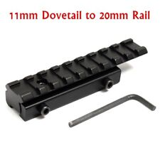 11mm to 20mm Dovetail Weaver Picatinny Rail Adapter Converter Mount Scope Base