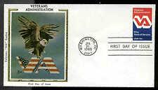 "U.S. FDC #1825 Colorano ""Silk"" Cachet Washington, DC Veterans Administration"