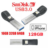 SanDisk 16GB 32GB 64GB 128GB iXpand USB 3.0 Flash Drive for iPhone iPad Mobile