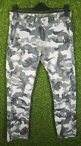 Levi's 511 Slim Fit Boys' Black & Gray Camouflage Jeans Size 30x30