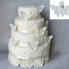 2pcs DIY Butterfly Cutters Mold Cake Fondant Sugarcraft Cookie Decorating Tool
