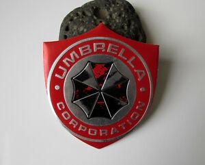 Umbrella Corporation Auto Emblem Aufkleber Sticker - Aluminium - rot - used look
