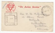 More details for ww2 australian ymca a.i.f. field p.o.no.14 haifa palestine 1941 unit censor
