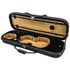 NEW Quality 4/4 Size Acoustic Violin Fiddle Case Black/Black/Khaki w/ Strap