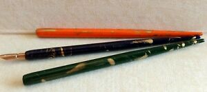 Lot of 3 Vintage Wood Dip Pen Holders -  unused