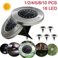 1-10PCS LED Solar Power Waterproof Buried Light Ground Lamp Outdoor Path Garden