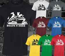 Boats and Hoes Mens T Shirt Tee Funny Rude Design Step Brothers Black Top