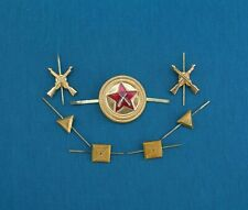 Russian Soviet Cap Badge and Collar Tabs Badges. USSR Militarized Guard 1970' s