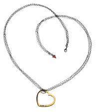 GUESS Halskette / Collier UBN81007 Herz-Serie schwarzversilbert