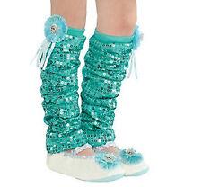 Authentic Disney FROZEN Princess ELSA Dress-Up Party Costume LEG WARMERS Sz 4-6