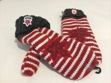 Brand New Canadian Olympic Warm Fleece Lined Mittens Adult L/XL Red