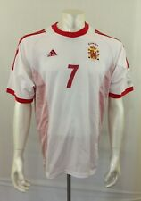 Espana National Soccer Adidas Climalite White 2002 World Cup #7 Raul Jersey