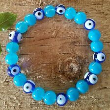 EVIL EYE Bracelet Glass Beads Ward Off Evil Protection Good Luck Amulet Talisman