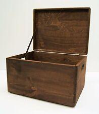 Big Wooden Box Storage  LARGE Dyed Exquisite Deep Brown Strong vintage Gentleman