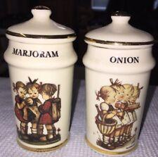 Marjoram & Onion Spice Jars Mint M.J. Hummel Switzerland 1987 More Available