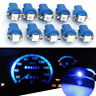 10X T5 B8.5D Gauge LED Car Dashboard Side Interior Dash Light Bulbs Indicator WL