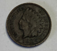 1905 Indian Head Cent -116 Year Old Antique Penny - Discount On Multiple Coins