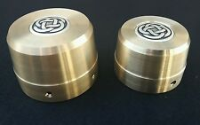 "Harley Davidson Brass ""Celtic"" Rear Wheel Nut/Axle  Covers"