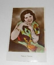 "RAQUEL TORRES SIGNED VINTAGE 3""X5"" PHOTO POSTCARD HAND TINTED COLOR"