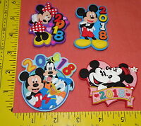 LOT OF 4 2018 = WALT DISNEY MICKEY MINNIE MOUSE DONALD GOOFY LASERCUT PVC MAGNET