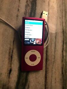 Apple MB735LL/A 8GB iPod Nano 4th Generation - Pink New Battery VERY NICE