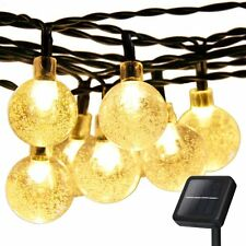 30LED 20FT Warm White Crystal Ball Solar String lights for Garden Wedding Party