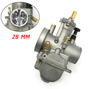 28MM PWK Carburetor Universal For Motorcycle Aluminum Dirt Bike ATV 2 Stroke Kit