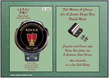 Classica moderna autovettura BAR BADGE + raccordi ROVER Enthusiast 1904 - 2005-B1.2885