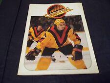 Mar 21, 1980 Vancouver Canucks Program - Canucks vs Red Wing Per-Olov Brasar cvr