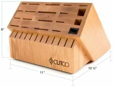 Never Used 32 Slot Ultimate Knife Set Block (Cherry Finish) by Cutco Made in USA