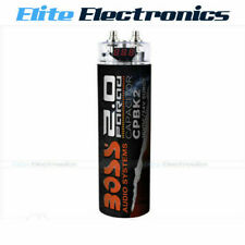 BOSS AUDIO CPBK2 2 FARAD BLACK DIGITAL VOLTAGE METER DISPLAY CAPACITOR POWER