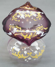 Antique Bohemian Moser Amethyst & Clear Jack in the Pulpit Vase Circa 1880s